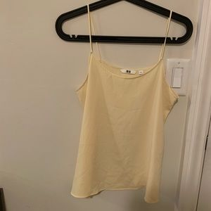 Uniqlo light yellow tank